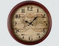 1 AAA Horloge Marron Mappemonde Métal et Verre
