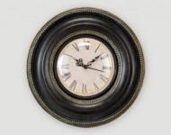 Horloge Murale Noire et Or 24 Cm