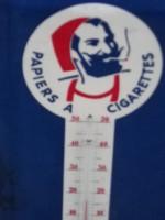 Glacoid Thermometre ancien Papier à Cigarettes ZIG ZAG