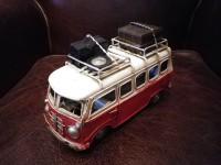 Véhicule métal VAN Combi Volkswagen VW Rouge départ en vacances