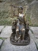 Figurine La Justice patine bronze