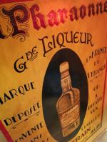 0000 - Antiquité dèbut xxème La Pharaonne Liqueur Albi TIN sign advertising