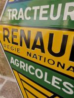 0000 - Plaque Emaillée Renault Tracteurs agricoles - Enamel TIN sign advertising EMAIL