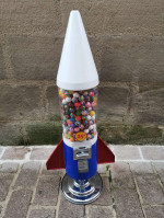 Antiquité USA distributeur de Gumball modèle Rocket - déco Industrielle vintage Authentique