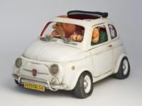 0A Figurine Guillermo FORCHINO voiture  FIAT 500 PETIT BIJOU