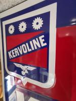 Plaque Emaillée HUILE KERVOLINE - Enamel TIN sign advertising EMAIL déco garage vintage