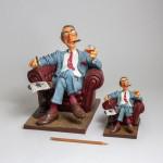 Figurine FORCHINO Le Big Boss Petit Modele Jacques Chirac