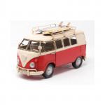 Véhicule métal Combi SURF Volkswagen VW rouge