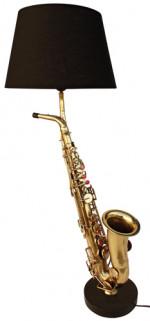 Lampe veritable Saxophone avec abat jour noir - jazz - blues -rock - country