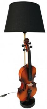 Lampe violon abat jour noir - jazz - blues -rock - country
