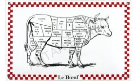 RAJOUT COMMANDE MR LESKIW Plaque Email LE BOEUF en découpe - Pochoir - Enamel TIN sign advertising EMAIL-Bis