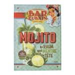 Tole en relief  mojito Rhum Cuba