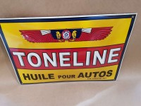 Plaque Email Bombée Huile Toneline  - Enamel TIN sign advertising EMAIL