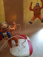 0000000 - Figurine Tintin et Capitaine HADDOCK sur la LUNE