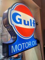 0000 - Neon Sign enseigne Lumineuse Garage GULF MOTOR OIL - déco Industrielle vintage