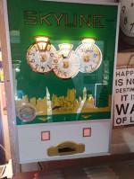 Antiquité Roulette de Comptoir SKYLINE décor USA - déco Industrielle vintage Authentique