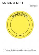 Acompte sur projet de Guéridon Table Bistrot Acier Emaillé Home's Stars - CANNES