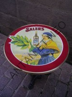 Guéridon Table Bistrot Email Salers Gentiane rouge - Enamel TIN sign advertising EMAIL