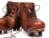 Paire de Crampons de Rugby Vintage en Cuir