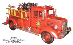 Véhicule métal Camion de Pompier avec echelle