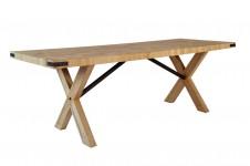 TABLE DE SALLE À MANGER NATURE, PIÈTEMENT BI-MATIÈRE BITAB12B