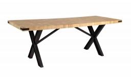 TABLE À MANGER NATURE, PIÈTEMENT NOIR  BITAB12FE