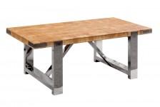 TABLE BASSE NATURE, PIED EN INOX BITBB11IX