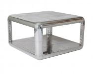 Table basse carree aluminium aviation  - Avion - Aéro ALUTBB09-C