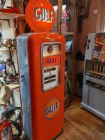 0000 - Pompe à Essence GULF ERIE double face Année 1947  restaurée  USA