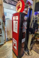0000 - Pompe à Essence TEXACO FIRE CHIEF double face ART déco restaurée  USA