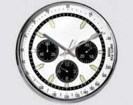 Horloge Montre Blanche Chrome
