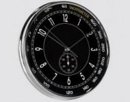 Horloge Montre Noire Chrome