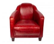 Fauteuil appoint le gentleman cuir vintage rouge MC122