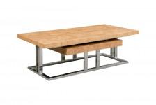 TABLE BASSE YOKO BITBB02IX inox et bois