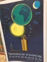 0000 - Antiquité Affiche ancienne des Chemins de fer Danois Copenhague illustrée par Aage Rasmussen datée de 1957  sign old advertising