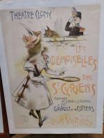 0000 - Antiquité Affiche ancienne Théâtre de Cluny Paris de 1898 illustrée par Wely sign old advertising