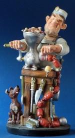 Figurine PARASTONE Le Boucher Charcutier artisan
