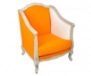 Fauteuil Crapeau tissu orange MT8
