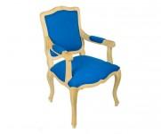 Fauteuil Cabriolet tissu bleu louis XV  MT19