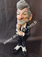 00000000 - Figurine Eddy Mitchell caricature (les vieilles canailles)