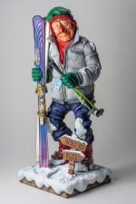 Figurine FORCHINO LE Skieur de Piste neige montagne sport d hiver
