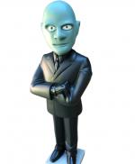 0000 Figurine FANTOMAS - Caricature de Jean Marais - Saint Emett - commissaire Juve