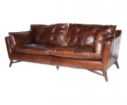 Canape Scandinave 3 Places MC151 cuir cigare