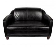 Canape 2 places cuir noir Le Gentleman  MC116
