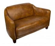 Canape 2 places cuir couleur Whiskies MC118 le Gentleman