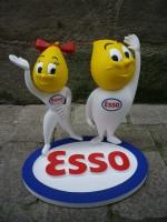00000 - Figurine ESSO Fille et Garçon - Saint Emett - Pub garage automobile